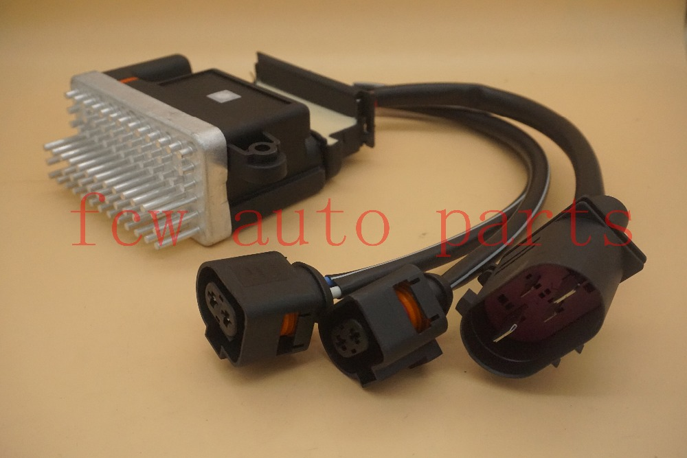 быстрая доставка Регулятор вентилятора радиатора модуль 8k0959501g 8k0910501d вентиляторы охлаждения для Audi А4, А5 А6, А7, В3 В5