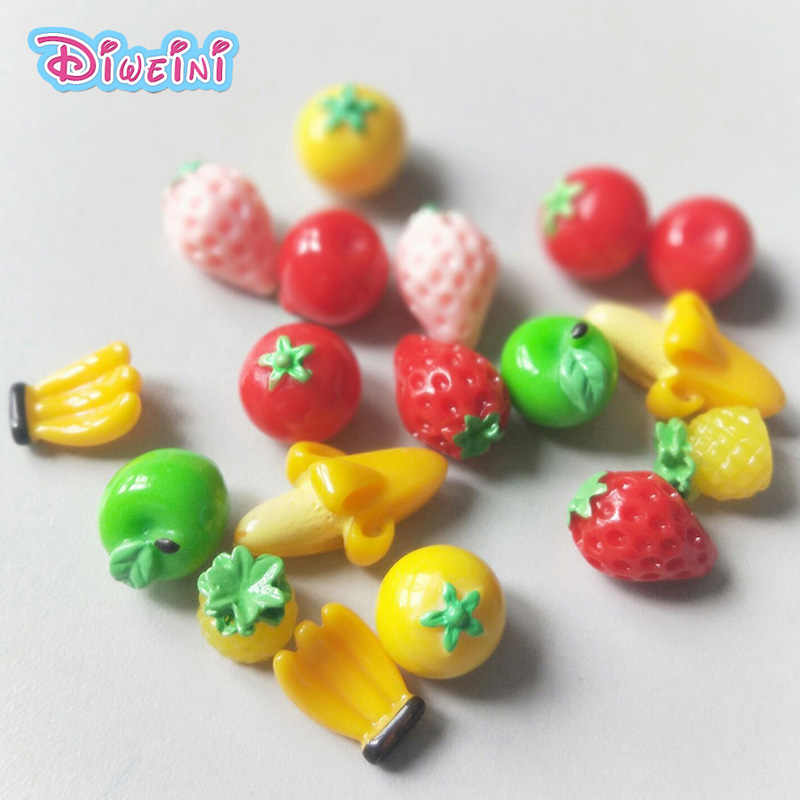 Mini Fruit Simulation Food Miniature Figurine Pretend play Kitchen Toy Doll House DIY Accessories gift Baby Gift