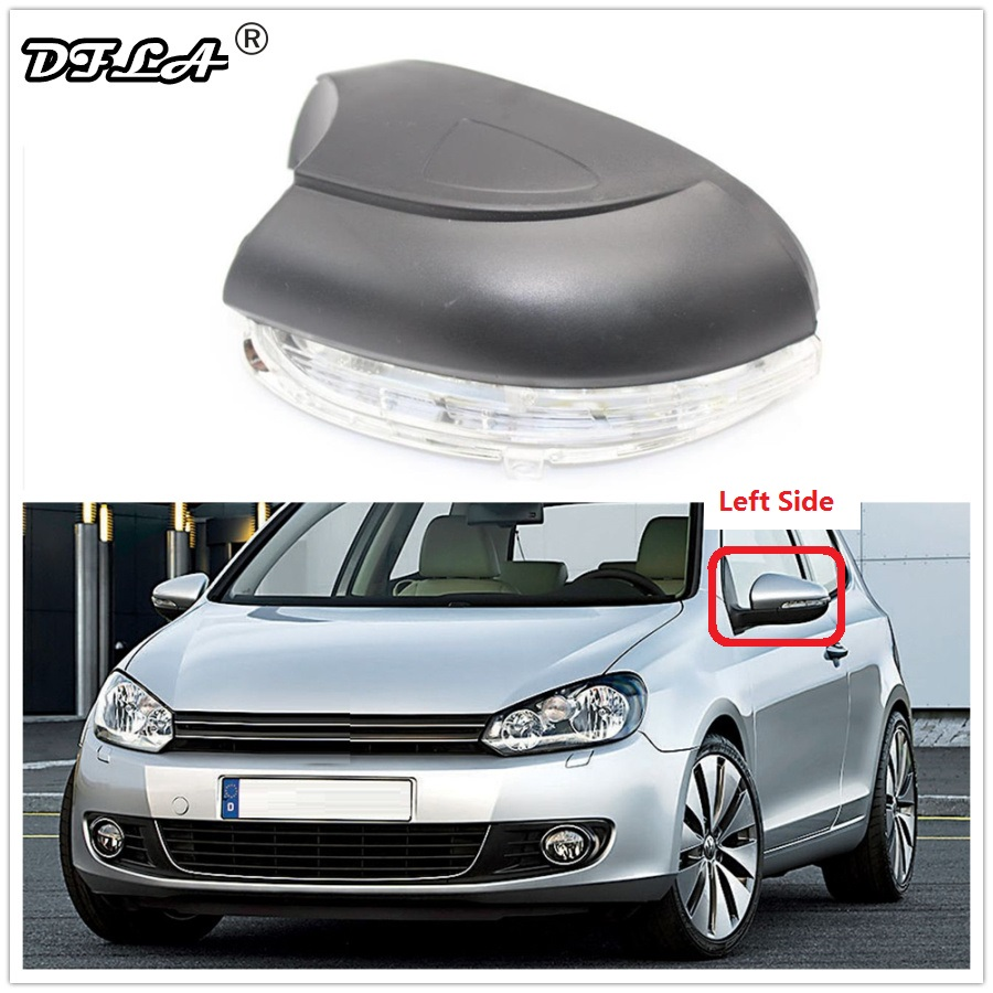 Left Side For VW Golf 6 A6 MK6 GTI GTD R20 2009 2010 2011 2012 2013 Car-Stying Rear Mirror LED Turn Signal Indicator Light Lamp