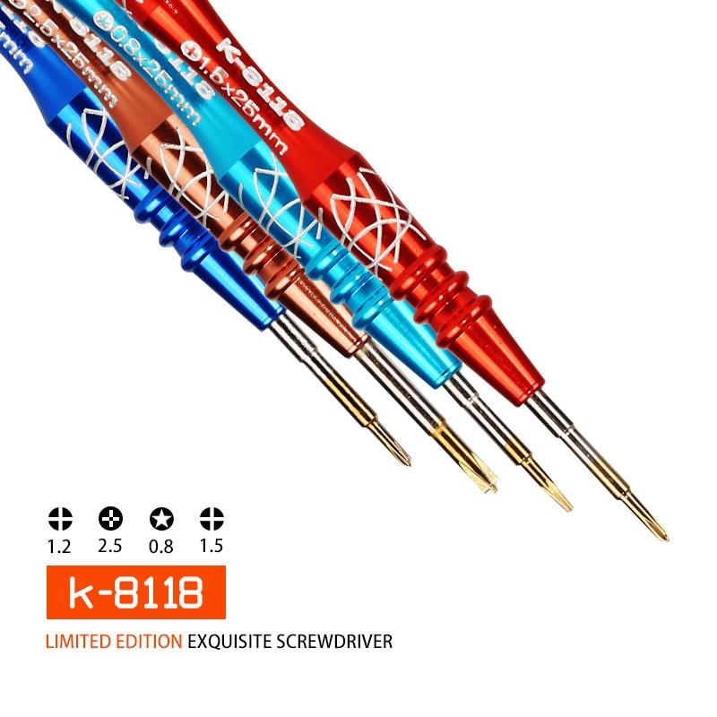 kaisi Precision Screwdriver Mobile Phone Repair Tools for IPhone 4 5 6 7 8 X Watch Repair Screw Driver K-8118