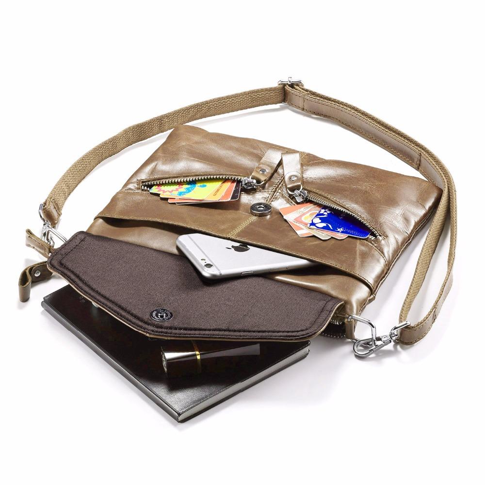 ac11599ddc Free shipping Lecxci Ladies Genuine Leather Multi Compartments Zipper  Pocket Crossbody Shoulder Bag Organiser Handbag for WomenUSD 34.02 piece