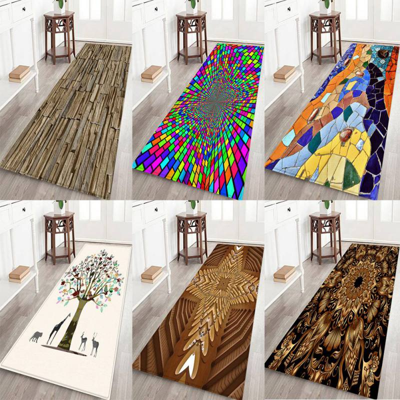 12 Styles Creative Europe Type 3D Printing Carpet Hallway Doormat Anti - Slip Bathroom Carpet Absorb Water Kitchen Mat/Rug