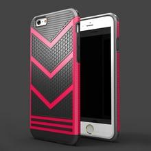 Moda tampa do telefone para o iphone 6 6 fundas s caso armadura de ouro à prova de choque tpu + pc silicone capinha carasas