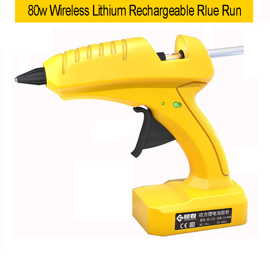 12v wireless lithium battery professional high temperature hot melt glue gun transplant repair hot air gun