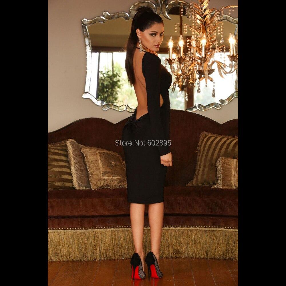 Black Open Back Homecoming Short Tight Dresses