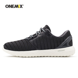 Onemix Man Running Shoes for Men Gray Mesh Air Breathable Designer Trail Jogging Sneakers Outdoor Sport walking Track Trainers