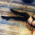 Marca de luxo mulher botas over the knee botas mujer rebites cravejado botas coxa alta botas de salto med grossas botas longo fino 2017