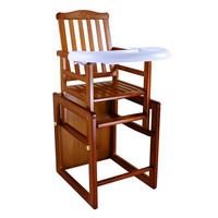 Multi function Folding Solid Wood Child Seat Portable Adjustable Baby High Chair With Plate Variable Cockhorse Stool For 0 6T BB