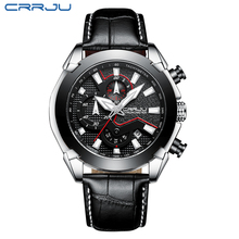 Watches Men Luxury Brand CRRJU Casual Chronograph Sports Mens Watch Waterproof Quartz Men's Watch Relogio Masculino Dropshipping