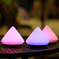 Creative 3D Volcano Lamp Colorful Silicone Night Light Pat Lamp Bedside Atmosphere Vacuum Lamps For Kids