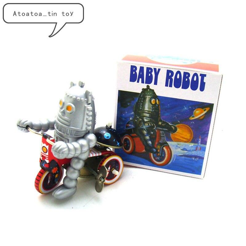 Juguete Bebé Juguetes Clásico De Cexdbo Reloj Robot Viento Lata Nv8nwOm0