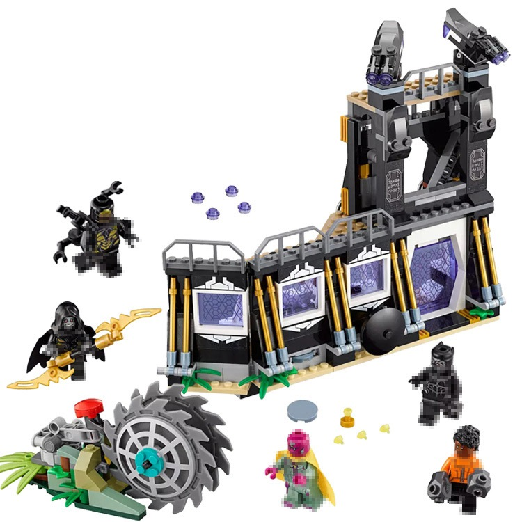 Lepin black panther 466pcs Super Heroes 76103 Building Blocks Bricks legoings Toys Marvel AVENGERS Infinity Wars thanos Batman single sale super heroes deadpool 2 avenger 3 thanos helmet infinity gauntlet with power stones building blocks kids toys kf1999