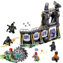 Lepin black panther 466pcs Super Heroes 76103 Building Blocks Bricks legoings Toys Marvel AVENGERS Infinity Wars thanos Batman(China)