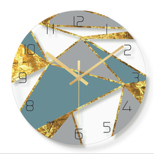 Wall clock Minimalist quartz watch abstract color Clocks Home Decoration Living Room Silent 12 inch