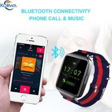 Pantalla HD Smartwatch Teléfono Bluetooth Reloj de la Aptitud Al Aire Libre Deporte de La Música Inteligente Podómetro Con Anti-perdido Para IOS Android