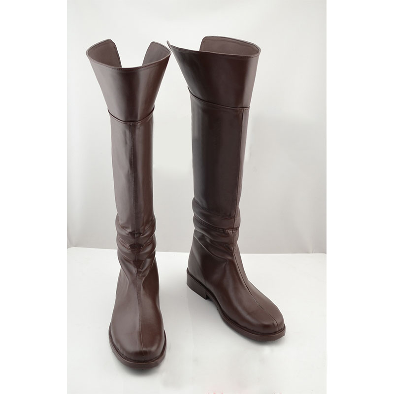 Attack on Titan Cosplay Boots Shingeki no Kyojin Eren Jaeger Ackerman Brown Shoes Custom Made  недорого