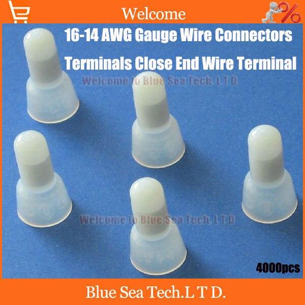 4000 Pcs Good Nylon Crimp Caps 16 14 AWG Gauge Wire Connectors 3mm ...