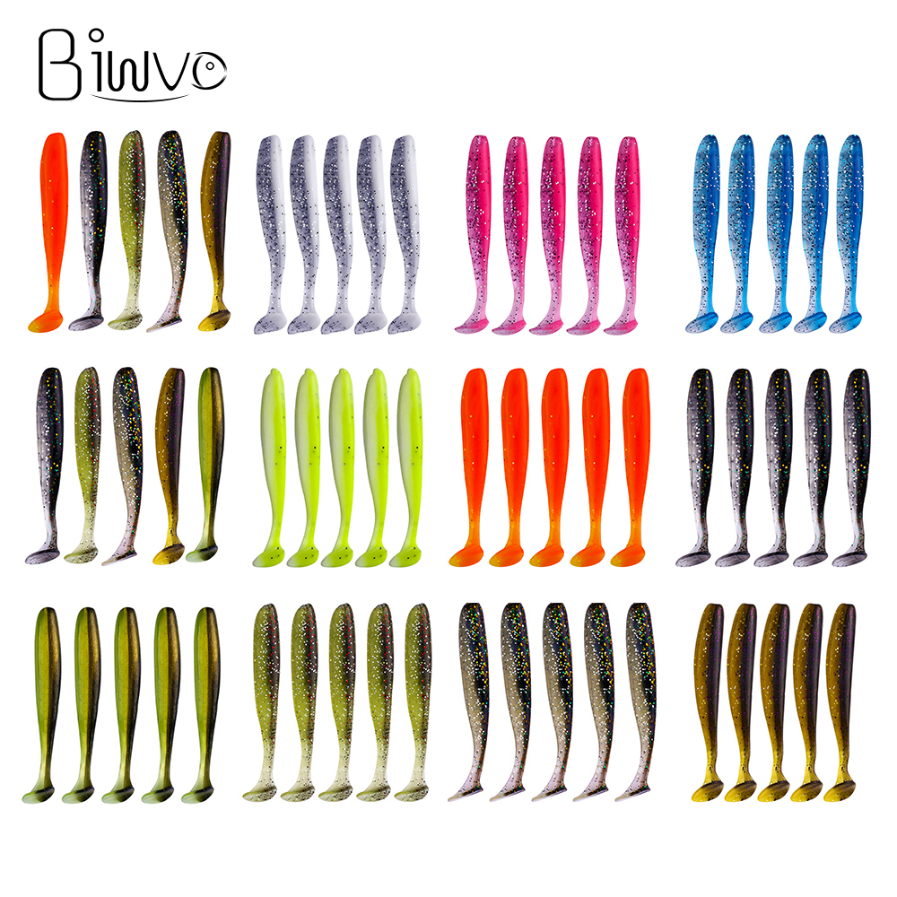 Biwvo Soft Lures Wobblers Fishing-Lure Swimbaits-Isca Artificial-Carp Silicone Double-Easy