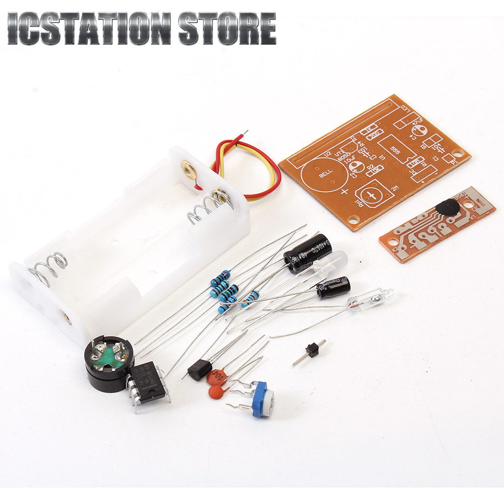 NE555 Circuit Touch Vibration Alarm Suite Electronic Parts DIY Kits For Electronic Production Training Learning