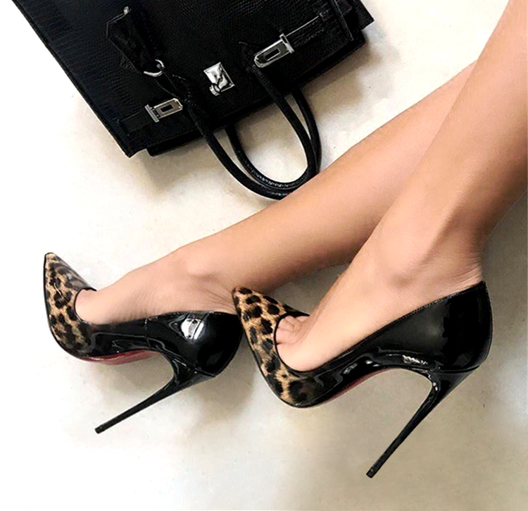 Carole Levy Hot Selling Woman Pumps Sexy Pointed Toe Leopard Printed High Heels 2018 Mixed Colors Thin Heels Office Lady Shoe