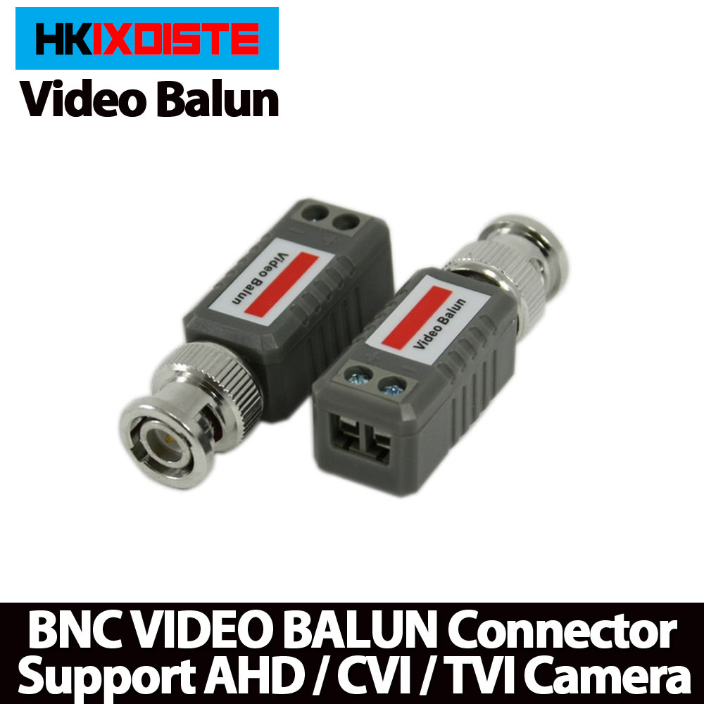 10pcs CCTV Video Balun Passive Transceivers 2000ft Distance UTP Balun BNC Cable Cat5 CCTV UTP Video Balun ...