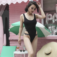 2017 Summer Very Sexy One Piece Swimming Suits Classic Vintage High Slits Thin Section Elastic Fabric