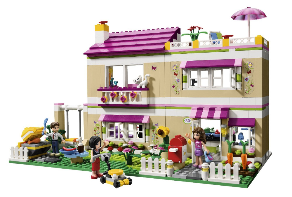 BELA Friends Series Olivia's House Building Blocks Classic For Girl Kids Model Toys   Marvel Compatible Legoe мягкая игрушка свинка городецкий стиль 23 см в ассортименте