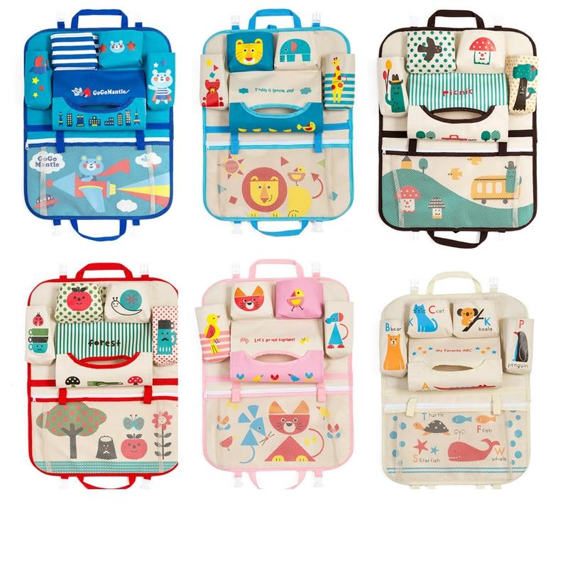 Creative Cartoon Car Seat Back Organizer Hang Storage Bag Baby Kids Toys Travel Protector Cover
