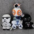 4 Стиль Star wars 18 см Сила Пробуждается BB8 и R2D2 и штурмовик и Kylo Рен Дарт вейдер плюшевые игрушки куклы