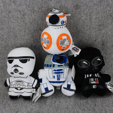 4Style Star wars 18cm The Force Awakens BB8 R2D2 stormtrooper Kylo Ren Darth vader plush doll