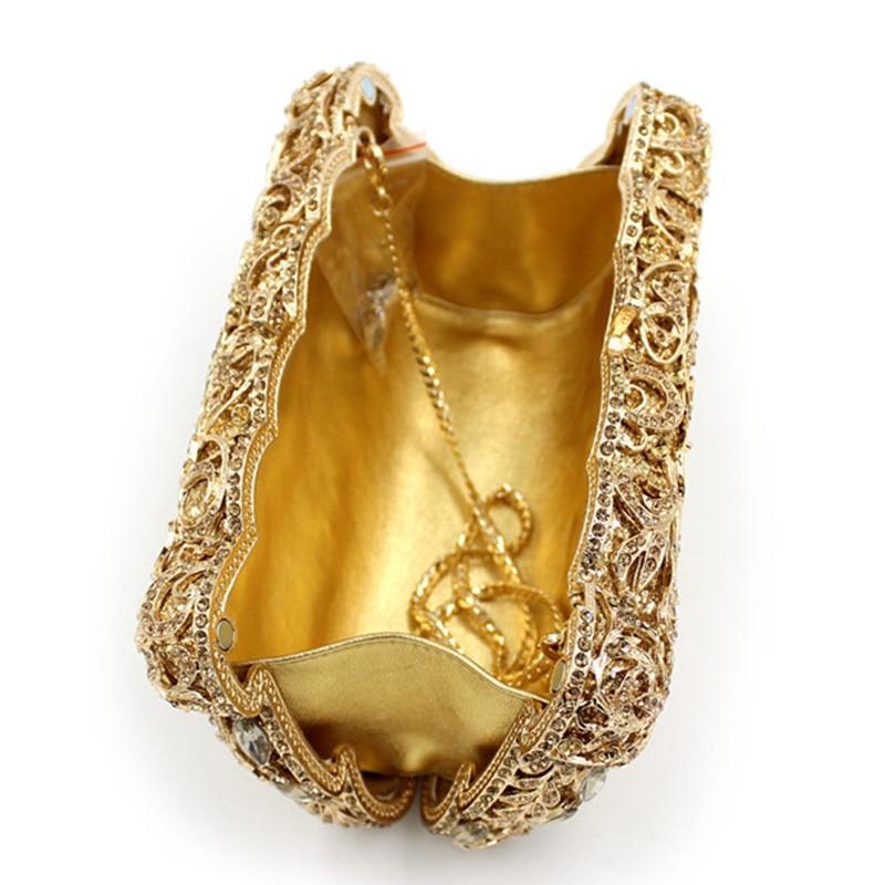 Femmes Sacs Soirée 100 Embrayages Or Diamant Fait Pochette Black Xiyuan Strass green gold Main De XEdxwHXSq