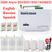 Free Shipping Double Door Window Sensors Wireless Motion Detector Remote Control Home GSM Burglar Security Alarm