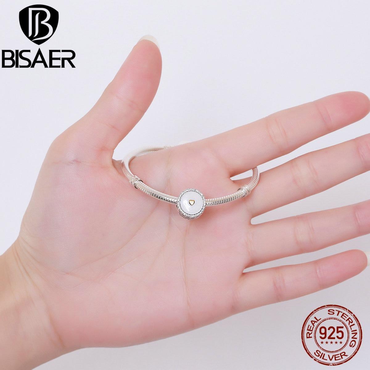 925 Sterling Silver Precious Heart, Silver Enamel & Clear CZ Beads ...