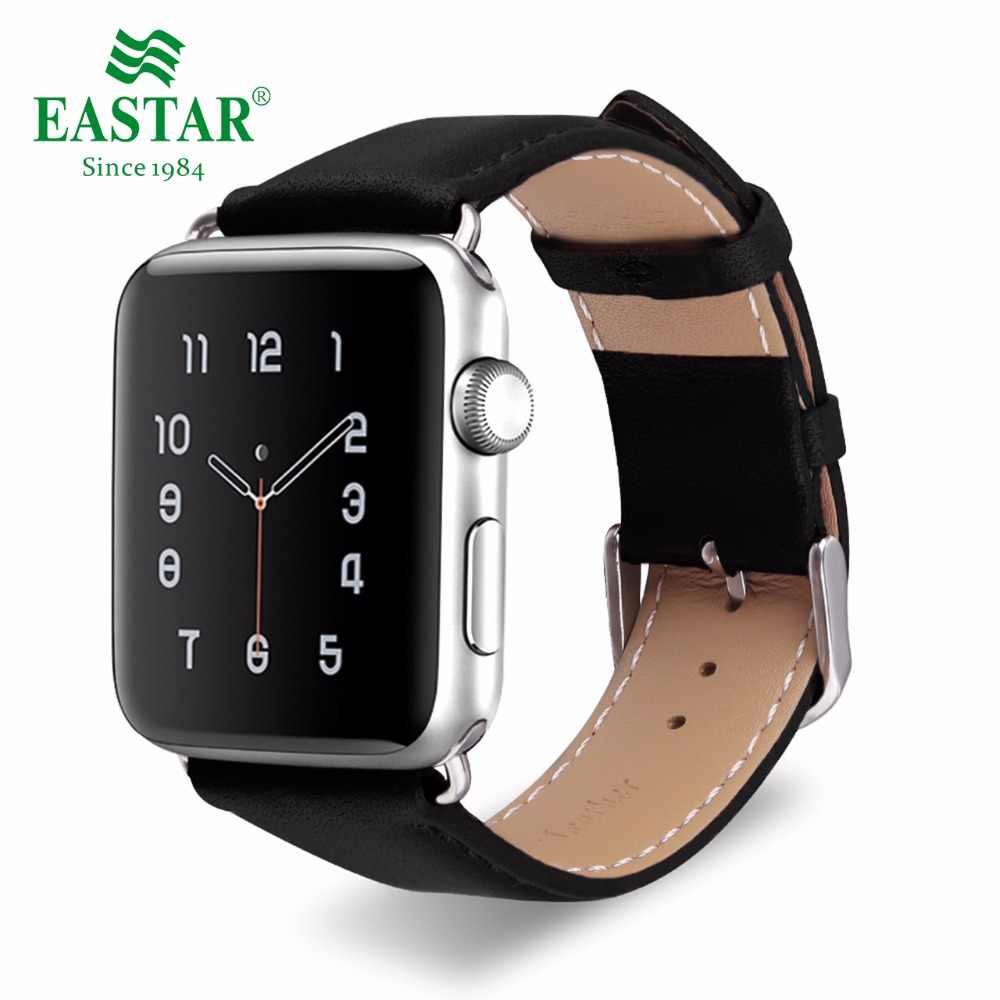 Eastar Genuine Leather for iwatch bracelet Apple Watch Band 42mm 38mm Sport Bracelet For 40mm 44mm Series 1&2&3&4 watch strap