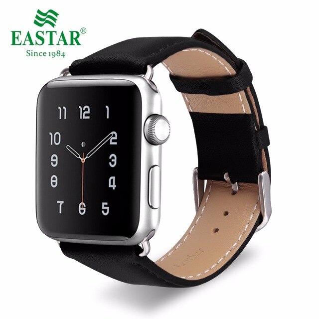 Eastar пояса из натуральной кожи для браслет для iwatch Apple Watch группа 42 мм 38 спортивный браслет серии 1 и 2 ремешок