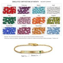 Personalized Gift Birthstone ID Bracelet