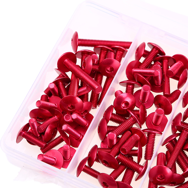 POSSBAY Bicicleta Red 74Pcs M6 M5 Motorcycle Windscreen Windshield Fairing Bolt Kit Body Fasteners Clip Screws Mounting Nuts in Windscreens Wind Deflectors from Automobiles Motorcycles