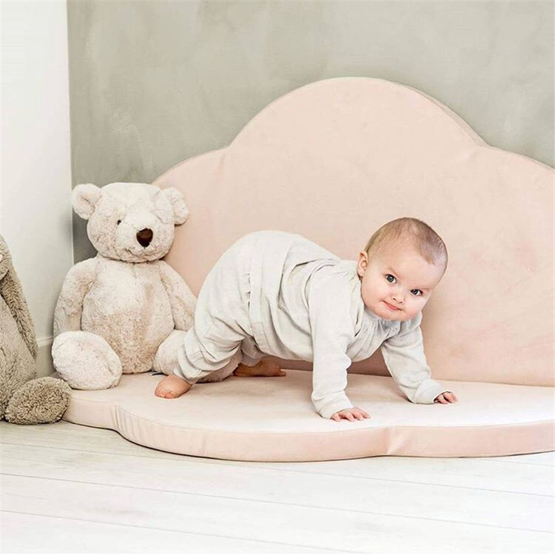 Tapis de jeu bébé tapis enfants Puzzle pliable 2 pétales tapis pour enfants jouets pour bébé ramper jeu Pad coton Gym tapis chambre décor 4 cm