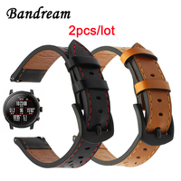 2PCS Trefoil Genuine Leather Milanese Watchband For Xiaomi Huami Amazfit 2 2S Quick Release Strap Stainless