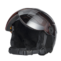 High Quality Integrally Ski Helmet With Goggle Half Covered Skiing Helmet Goggles CE Outdoor Sports Snowboard