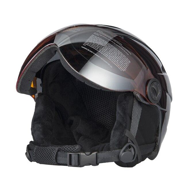 a7c0e56a2c389 Capacete De Esqui Com Óculos de Proteção de alta Qualidade Integralmente  Semi-coberto Capacete do