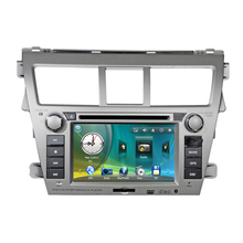 7 Car Radio DVD GPS Navigation Central Multimedia for Toyota Vios 2008 2009 2010 2011 SD