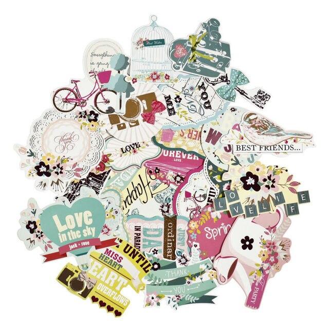 23pcs scrapbooking supplies stickers scrapbook vintage stickers for scrapbook album die cut pack assorted colors