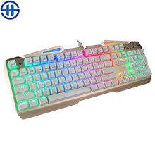 TEAMWOLF VODRAY Mechanical Keyboard 104 MX black blue red switches Backlight Metal Panels Gaming Keyboard For Laptop PC office