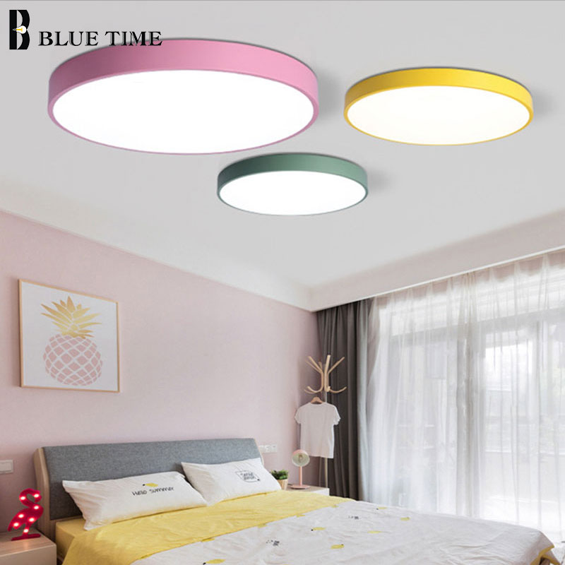 Image 2 - 5cm Super Thin Ceiling Light for bedroom Living Room Bedroom Kitchen Surface Mount Remote Control ceiling lamp home lighting-in Ceiling Lights from Lights & Lighting