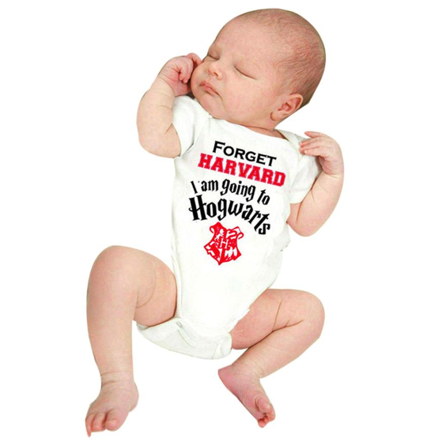 Romper for baby boy Infant Short Sleeve Letter Jumpsuit onesie baby Clothes whit collar pudcoco