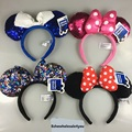 New Funny Minnie Mickey Hairband Cosplay Headwear Girls Women Lovely Hair Band Bow Polka Dot Mickey Mouse Ears Chirstmas Party