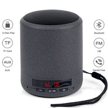 лучшая цена Mini Portable Bluetooth Speaker Wireless Column Bass Sound Stereo Subwoofer FM Radio Handsfree TF Card USB MP3 Player For Phone