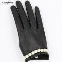 Filles dame écran tactile gants partie cadeau performance sexy gants marque en cuir courtes T montrent gants gants de mode
