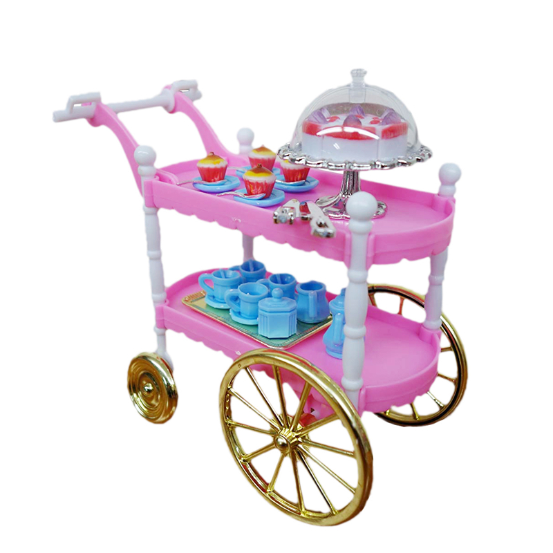 For Barbie Furniture Cake Car Dining Car Kitchen Furniture And Accessories Sets Doll Food Girl Toy For 1/6 Doll